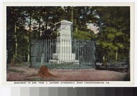 Monument to Stonewall Jackson, near Fredericksburg, Virginia, circa 1915-1930
