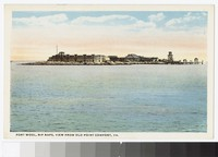 Fort Wool, view from Old Point Comfort, Hampton, Virginia, circa 1915-1930