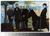 Artist's depiction of Lincoln at Fort Monroe, Hampton, Virginia, circa 1951-1980