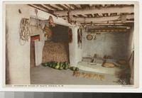 Interior of house, Isleta Pueblo, New Mexico, 1907-1914