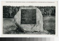Memorial to Colonel Fletcher Webster, Manassas, Virginia, circa 1907-1914