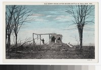 Henry House after the Second Battle of Bull Run, Manassas, Virginia, circa 1907- 1914