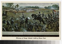 Artist's depiction of the Battle of Seven Pines, Richmond, Virginia, circa 1915-1930