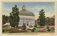 Conservatory at rose gardens, Druid Hill Park, Baltimore, Maryland, 1930-1944