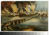 Artist's depiction of the Fall of Richmond, Virginia, circa 1907-1914