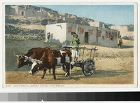 Old cart, Laguna Pueblo, New Mexico, 1915-1930