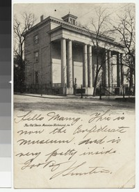 Confederate Museum, Richmond, Virgina, circa 1901-1906