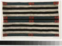 Very old Navaho Chief's blanket, Indian Building, Albuquerque, New Mexico, 1907-1914