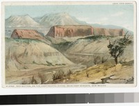 Artist's depiction of Red Buttes on the Continental Divide, near Fort Wingate, New Mexico, 1915-1930