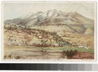 Artist's depiction of Mount Taylor, New Mexico, 1915-1930