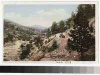Scenic highway between Las Vegas and Santa Fe, New Mexico, 1915-1930