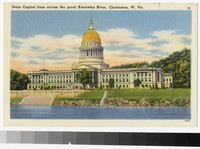 State Capitol from acoss the great Kanawha River, Charleston, West Virginia, 1930-1944