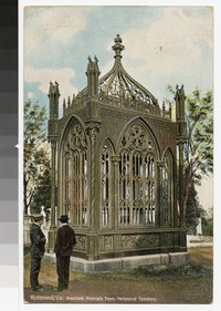 President Monroe's Tomb, Hollywood Cemetery, Richmond, Virginia, circa 1907