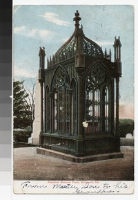 President Monroe's Tomb, Richmond, Virginia, circa 1901-1907