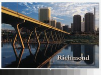 James River and skyline, Richmond, Virginia, circa 1991-2010