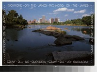 James River and skyline, Richmond, Virginia, circa 1981-2010
