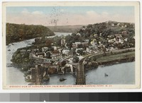 Birdseye view of Harper's Ferry from Maryland Heights, Harper's Ferry, West Virginia, 1915-1924