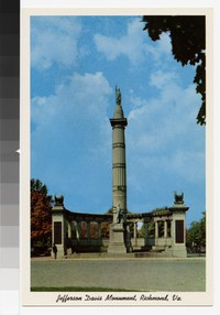 Jefferson Davis Monument, Richmond, Virginia circa 1945-1970, circa 1945-1970