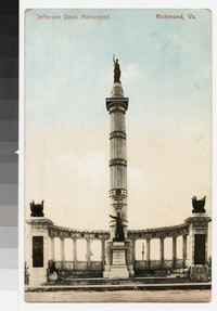 Jefferson Davis Monument, Richmond, Virginia, circa 1907-1914