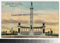 Jefferson Davis Monument, Monument Avenue and Cedar Street, Richmond, Virginia, circa 1907-1914