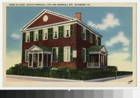 Home of Chief Justice Marshall, 9th and Marshall Streets, Richmond, Virginia, circa 1930-1944