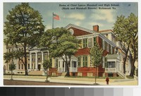 Home of Chief Justice Marshall and High School, Ninth and Marshall Streets, Richmond, Virginia, circa 1930-1944