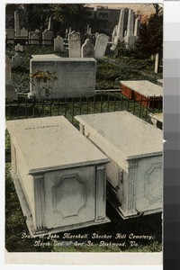 Grave of John Marshall, Shockoe Hill Cemetery, north end of Third Street, Richmond, Virginia, 1907-1914, 1907-1914