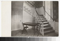 Stairway in the home of Chief Justice Marshall, Richmond, Virginia, circa 1913-1914