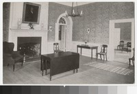 Dining room in home of Chief Justice Marshall, Richmond, Virginia, circa 1913-1914
