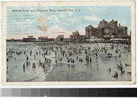 Bathing scene near Traymore Hotel, Atlantic City, New Jersey, 1915-1921