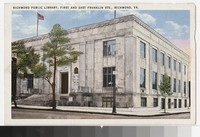 Richmond Public Library, First and East Franklin Streets, Richmond, Virginia, circa 1930-1944