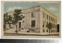 Richmond Public Library, 1st and East Franklin Street, Richmond, Virginia, circa 1930-1944