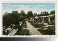 Italian rose garden in Maymont Park, Richmond, Virginia, circa 1915-1930