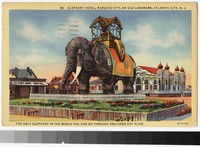 Elephant Hotel, Margate City, New Jersey, 1931-1944