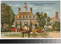 Royal Governor's Palace and Colonial Coach, Williamsburg, Virginia, 1931-1944