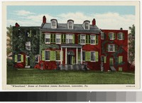Wheatland, home of President James Buchanan, Lancaster, Pennsylvania, 1915-1930