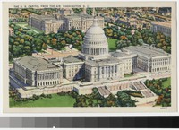 United States Capitol from the air, Washington, D. C., 1930-1944