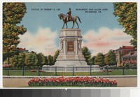 Statue of Robert E. Lee, Monument and Allen Avenues, Richmond, Virginia, circa 1930-1944