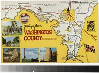 Self guided tour map of Washington County, Maryland, 1961-1990