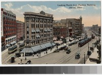 Looking North from Flatiron Building, Akron, Ohio, 1907-1915