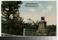 Sedgwick Monument, Spotsylvania Court House, near Fredericksburg, Virginia, circa 1907-1914