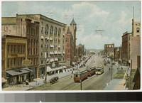 Main Street looking North, Akron, Ohio, 1907-1910