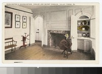Washington's Headquarters, parlor and secret passage, Valley Forge, Pennsylvania, 1915-1930