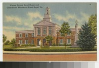 Warren County Court House and Confederate Monument, Front Royal, Virginia, circa 1931-1944