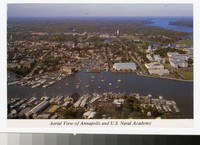 Aerial View of Annapolis and U.S Naval Academy, Annapolis, Maryland, 1991-1999