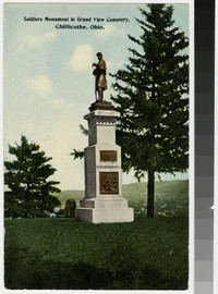 Soldiers Monument in Grand View Cemetery, Chillicothe, Ohio, 1907-1916
