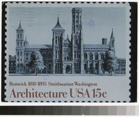 Artist's depiction of the Smithsonian Institution Building, Washington, District of Columbia, 1980-1985