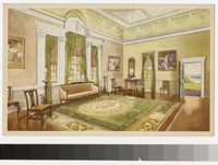 Artist's depiction of the Banquet Hall, Mount Vernon, Virginia, 1934