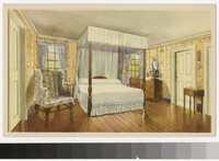 Artist's depiction of General Washington's bed chamber, Mount Vernon, Virginia, 1934