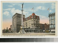Soldiers' and Sailors' Monument and Allen Hotel, Centre Square, Allentown, Pennsylvania, 1915-1930
